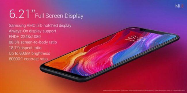 Xiaomi MI 8 Hersteller