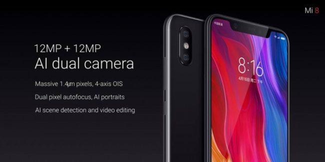 Xiaomi Mi 8 Dualkamera Hersteller