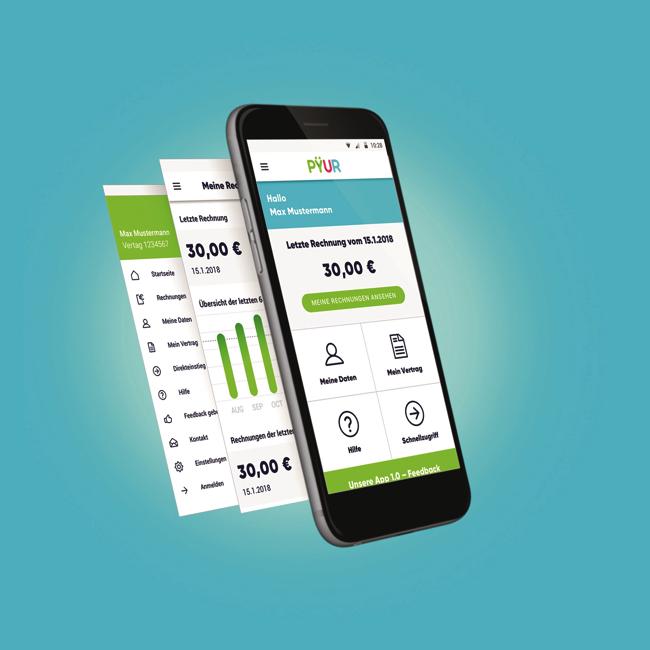 Pyur Kundenservice ab sofort auch per App erreichbar