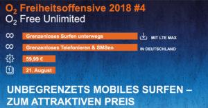 o2 Free Unlimited Tarif: Unbegrenzte Datenflat für 59,99 €