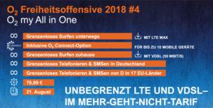 o2 my All in One: Kombitarif mit Mobilfunk- und Festnetzanschluss mit Unlimited-Flat