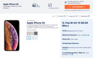 Apple iPhone XS (Max) mit o2 Free Tarif und o2 My Handy