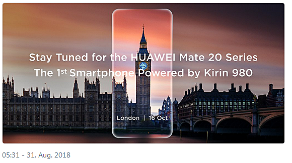 Huawei Event Bild Huawei über Twitter
