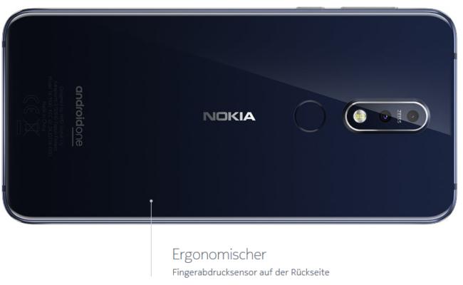 Nokia 7.1 Fingerabdrucksensor