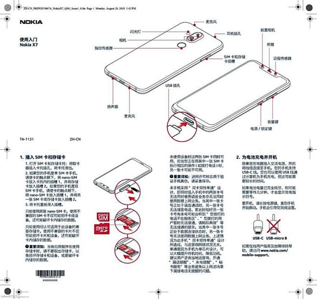 Nokia X7 Datenblatt Bild Slashleaks