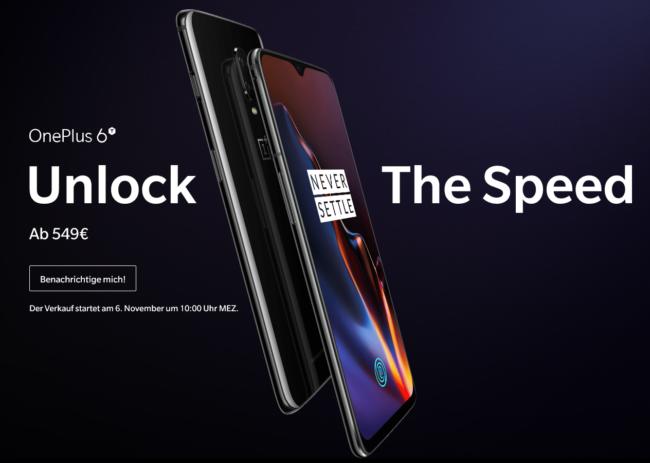 OnePlus 6T Hersteller
