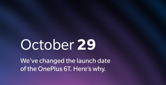 OnePlus 6T Neuer Launchtermin