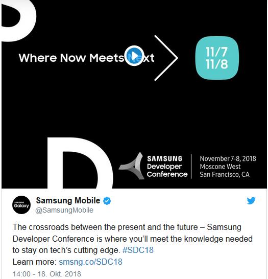 Samsung Eventankündigung Bild Twitter